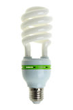 Energy Saving Light Bulb. An energy-saving light bulb. Isolated on white stock illustration