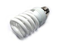 Energy saving light, bulb. Isolated energy saving light bulb on white background Royalty Free Stock Photo