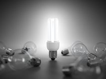 Energy saving light bulb Royalty Free Stock Images