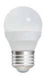 Energy saving light bulb on white background. Stock Photo