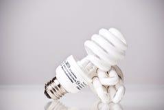 Energy saving light bulbs. On white background Royalty Free Stock Image