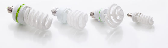 Energy saving light bulbs Stock Image