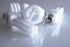 Energy Saving Light Bulbs Stock Photography