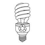 Energy-saving light bulbs icon. Illustration design Stock Photos