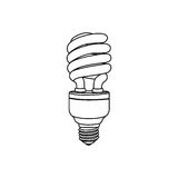 Energy-saving light bulbs icon. Illustration design Stock Photography