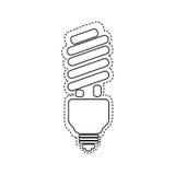 Energy-saving light bulbs icon. Illustration design Stock Images