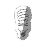 Energy-saving light bulbs icon. Illustration design Royalty Free Stock Photos