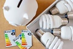 Energy saving light bulbs Stock Image