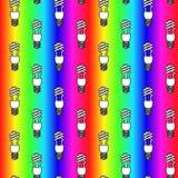 Energy saving light bulbs seamless pattern. Vector illustration. Royalty Free Stock Images