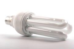 Energy saving light lamp. On white Royalty Free Stock Photos