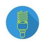 Energy Saving Light Vector. Fluorescent Light Bulb Icon. Royalty Free Stock Photo