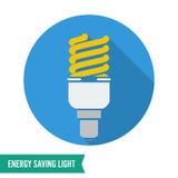 Energy Saving Light Vector. Fluorescent Light Bulb Icon. Stock Image