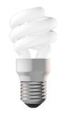 Energy saving lightbulb. An energy saving lightbulb isolated on white. Includes clipping path Royalty Free Stock Photo