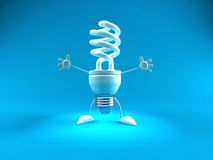 Energy saving lightbulb. 3d generated picture Stock Photo