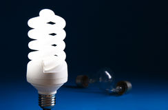 Energy Saving Lightbulb Stock Images