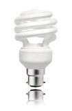Energy Saving Lightbulb with Bayonet  Stock Photo