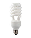 Energy Saving Lightbulb Isolated on White Stock Images