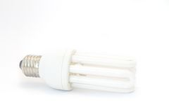 Energy saving lightbulb Stock Image