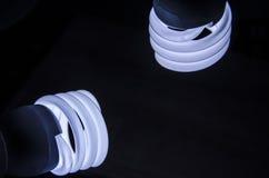 Energy saving lightbulb silhouette Stock Image