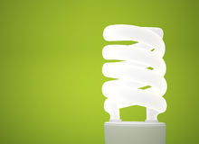 Energy saving lightbulbkground Stock Photos