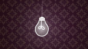 Energy Saving Lights. Dynamic graphic animation using paper cutout styled elements to illustrate someone turning off a light. High definition 1080p. Paper Cutout stock video footage