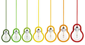 Energy saving multicolor light  bulb Royalty Free Stock Image