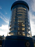 Energy saving outdoor lamp against blue sky Stock Photography