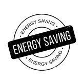 Energy Saving rubber stamp Royalty Free Stock Images