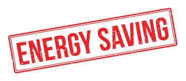 Energy Saving rubber stamp Royalty Free Stock Photos