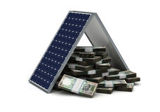 Energy Saving for Rupee Stock Image