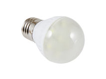 Energy saving SMD LED light bulb. Isolated on white background with clipping path Royalty Free Stock Images