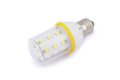 Energy saving SMD LED light bulb E27. On white background with clipping path Royalty Free Stock Image