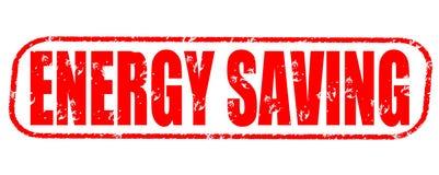 Energy saving stamp on white background. Energy saving stamp isolated on white background Royalty Free Stock Images
