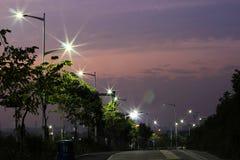 The energy-saving streetlights made by LED Stock Image