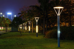 The energy-saving streetlights made by LED Royalty Free Stock Photo