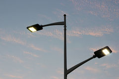 The energy-saving streetlights made by LED Stock Photography