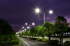 The energy saving streetlights made by LED