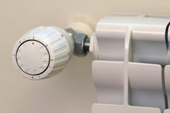 Energy saving with thermostatic valve Royalty Free Stock Photo