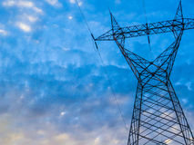 Energy. Sky with electrical energy static Royalty Free Stock Photos