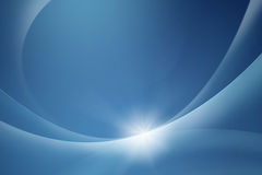 Energy slice. Slices of light echoing over a calm blue background Royalty Free Stock Photo