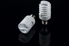Energy smart spiral light bulb Royalty Free Stock Photo