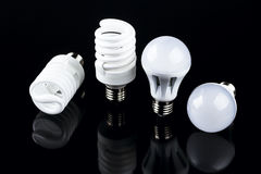 Energy smart spiral light bulb Royalty Free Stock Image