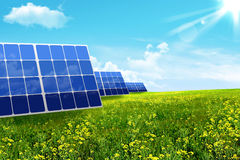 Energy. Solar battery Royalty Free Stock Photo