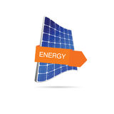 Energy solar panel color  Royalty Free Stock Photography