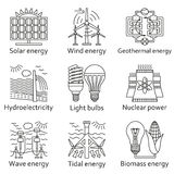 Energy source icons set Royalty Free Stock Photography