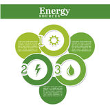 Energy source. Over white background vector illustration Stock Photo