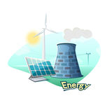 Energy sources concept design, vector illustration Stock Photography