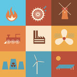 Energy sources history Stock Images