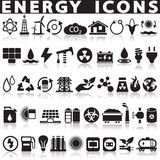 Energy sources icons set. Energy sources icons set on a white background with a shadow Royalty Free Stock Images