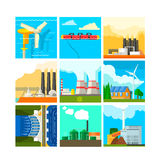 Energy Sources Symbols Set. Vector Illustration Stock Photography
